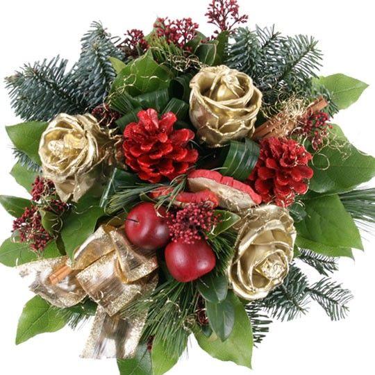 Blumenstrau Weihnachtsglanz mit Gratiszugabe Ihrer Wahl