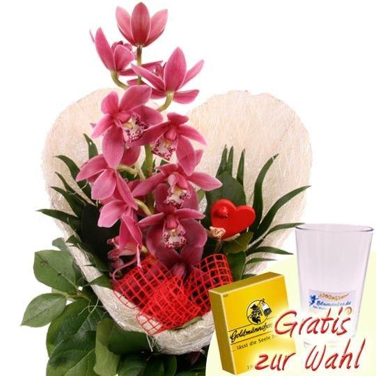 Blumenstrauss OrchideenHerz  Blumen online