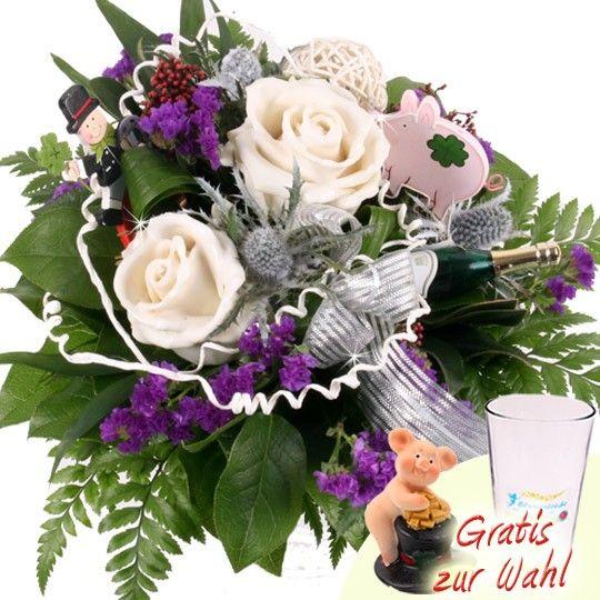 Blumenstrau Neujahrs Zauber mit Wachsrosen online