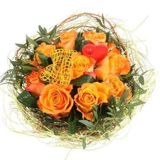 Blumenstrau Rosentraum in Orange mit Gratiszugabe Ihrer