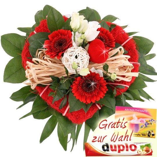 Blumenstrau mein herzchen mit Gratiszugabe Ihrer Wahl