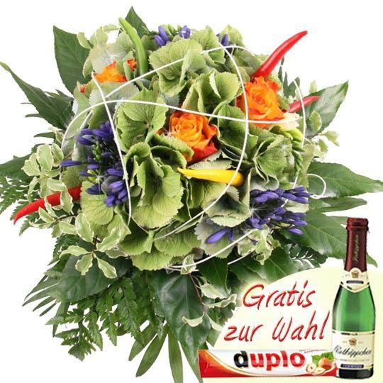 HortensienChiliStrau  Scharfe Blumen online