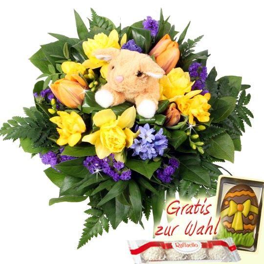 Blumenstrau Kuschel Ostergru  Blumen zu Ostern online