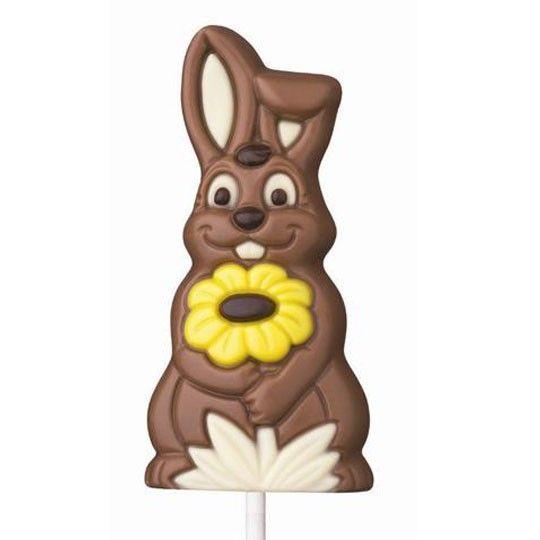 SchokoOsterHase Lolly aus der Halloren Schokoladenfabrik