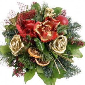 Weihnachts Blumenstrue mit Gratiszugabe Ihrer Wahl versenden