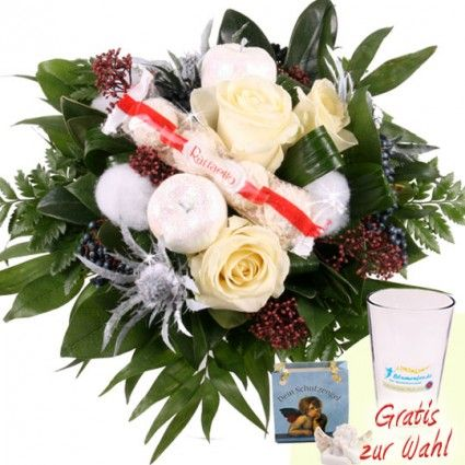 Blumenstrau Schneezauber mit Gratiszugabe Ihrer Wahl