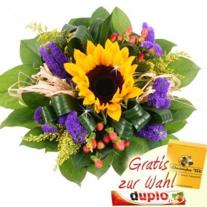Blumenstrau Strahlende Sonne mit 3 Gratiszugaben Ihrer