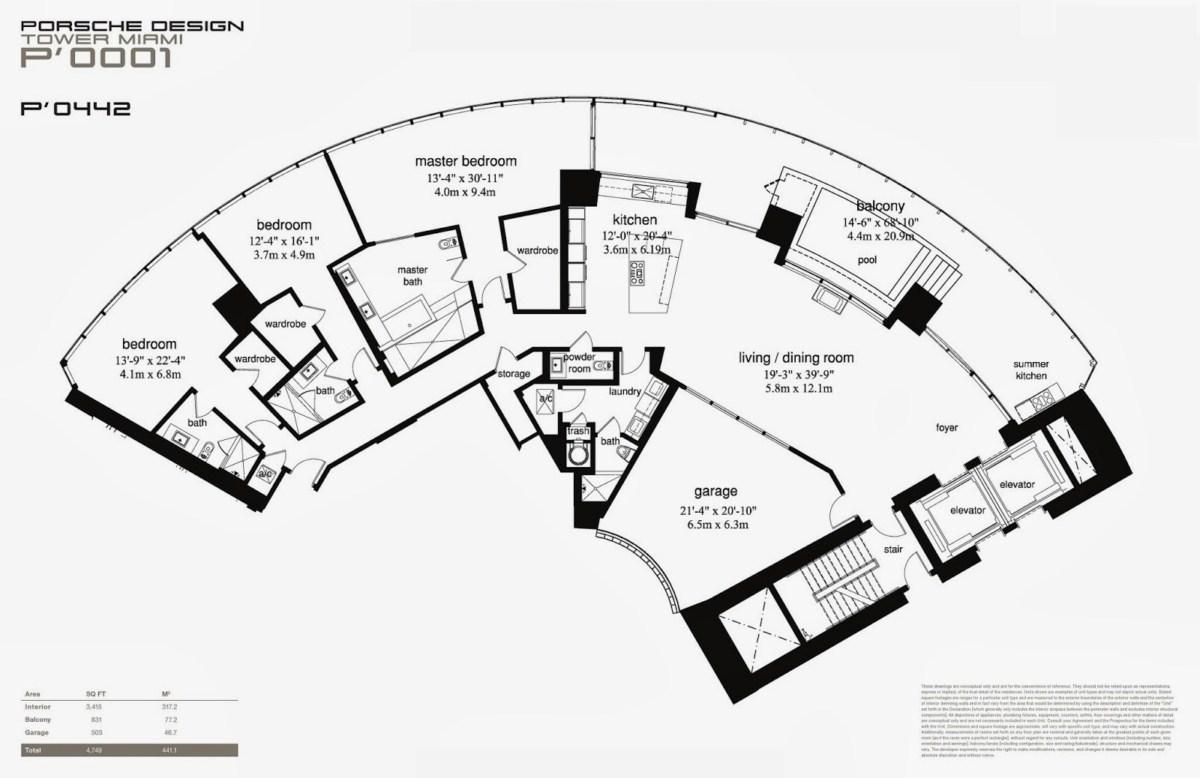 Porsche design tower floorplan 3