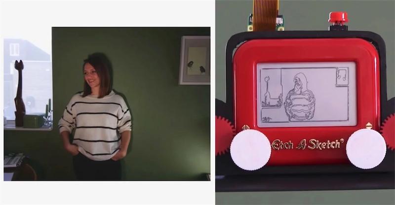 Ingenious DIY Etch-A-Sketch digital camera