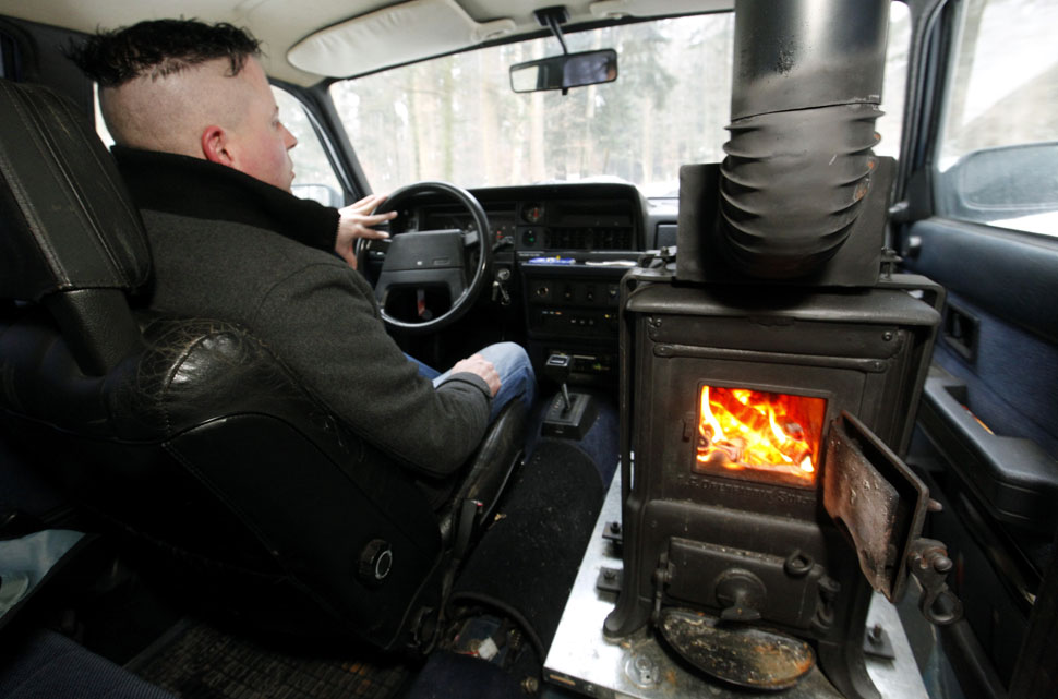 Extreme DIY car mods: Volvo with a wood-burning stove for heat ...