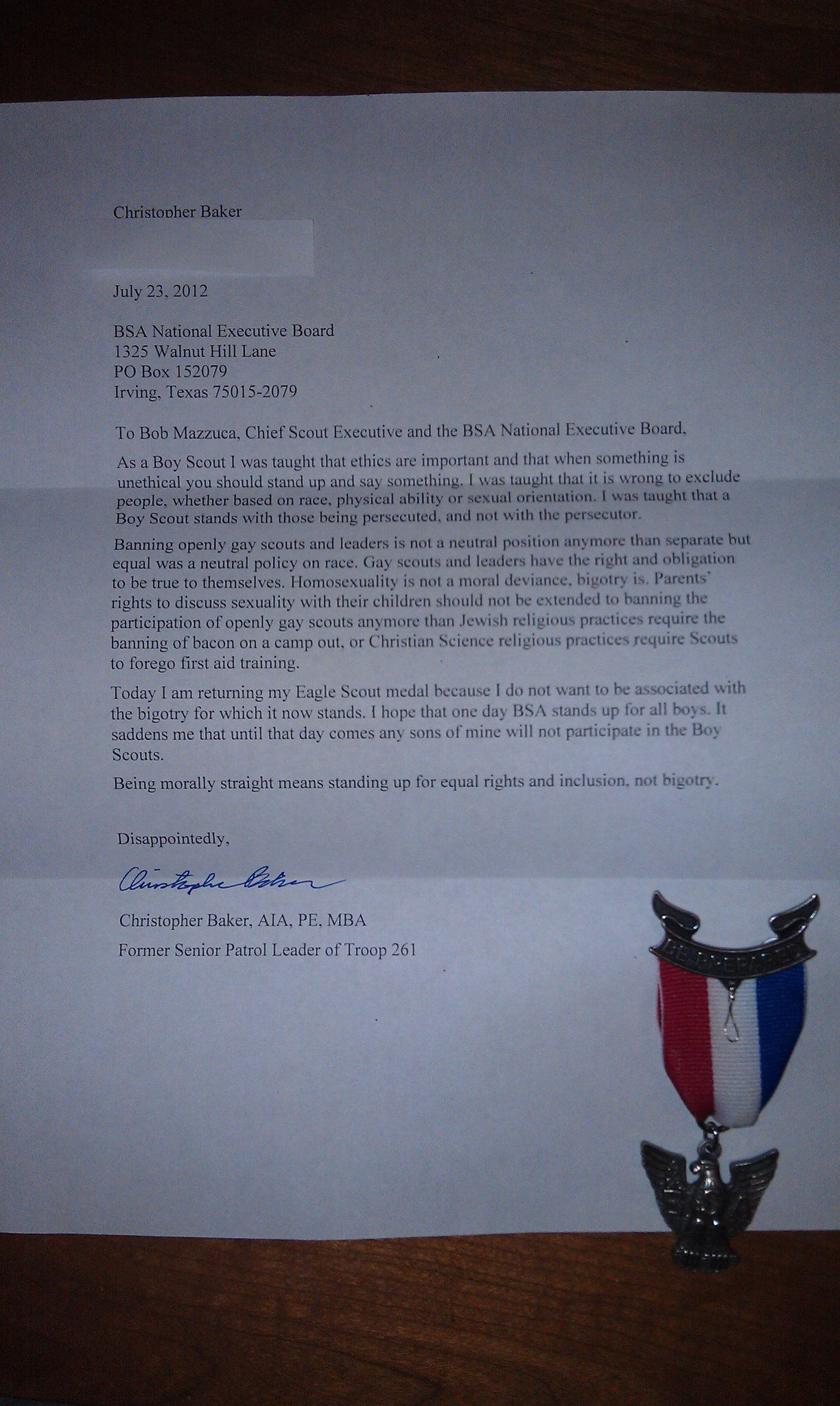 Eagle Scouts stand up to the Boy Scouts of America: *UPDATED