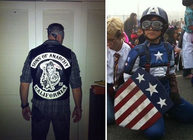 More Share your DIY Halloween costume in our epic 2012 thread! & BB Readersu0027 DIY Costumes: Animal and Son of Anarchy by BrotherPower ...