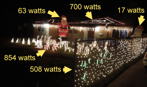 rob cockerham went around his neighborhood and estimated how much his neighbors were paying in electricity charges for their christmas lights for the house - How To Decorate Your House With Christmas Lights