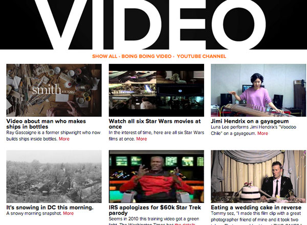 Watch the latest video posts in the Boing Boing video archive / Boing
