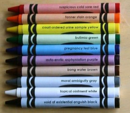 Gritty crayon colors