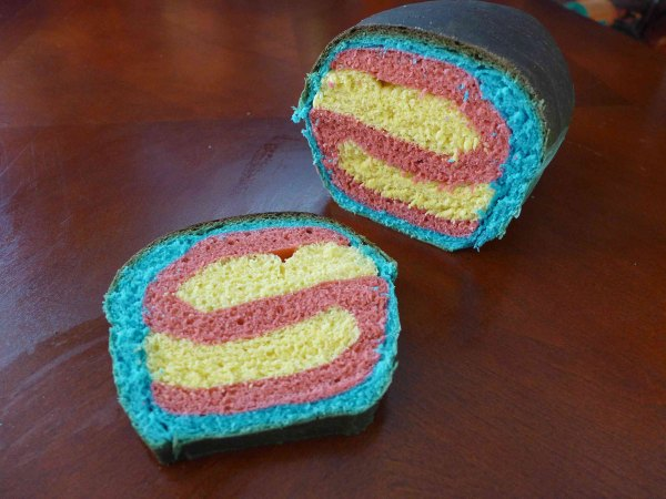 Clark Kent fanboy bread, by Chris-Rachael Oseland.