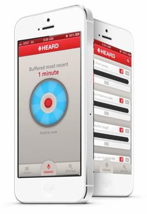 Heard: an app that records what you heard 5 minutes ago
