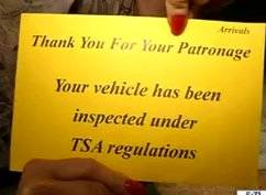 TSA orders airport valets to search parked cars