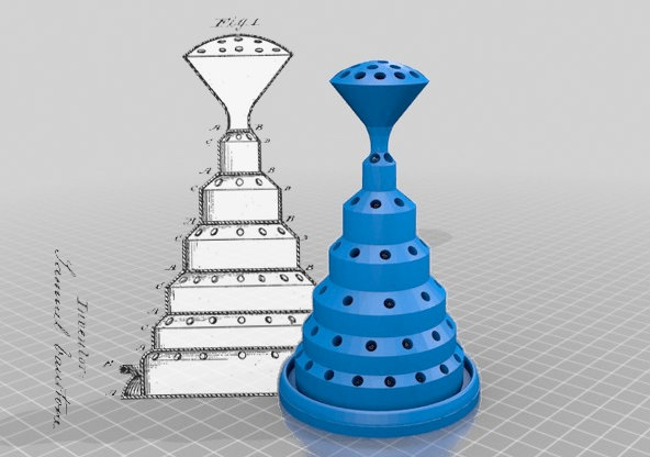 3D printable objects modeled on expired 19th century patents