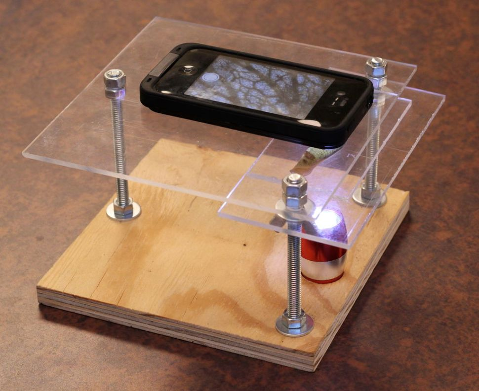 HOWTO make a $10 digital microscope kit for your phone