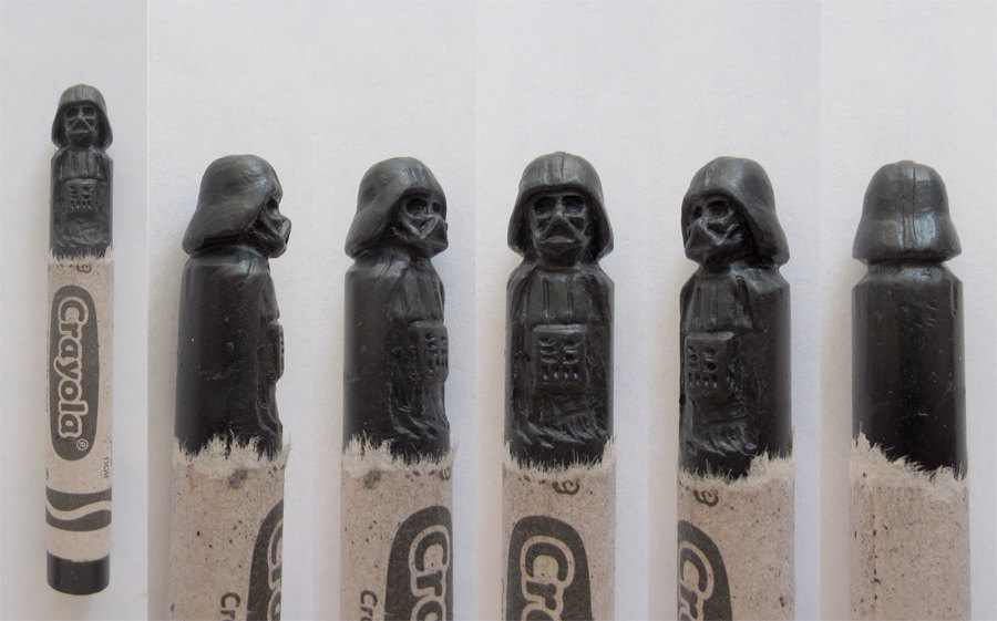 Nerdy carved crayons