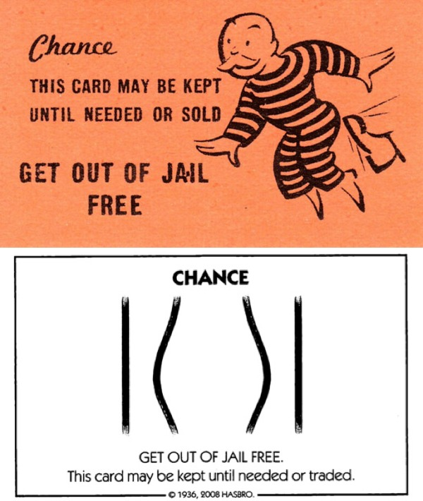 Then Now 13 Monopoly Get Out Of Jail Free Card Boing Boing