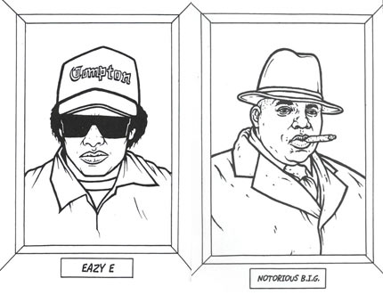 Gangsta Rap Coloring Book / Boing Boing