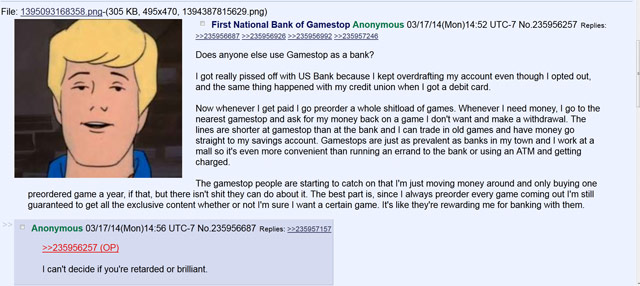 Gamestop as a fee-free, convenient banking institution