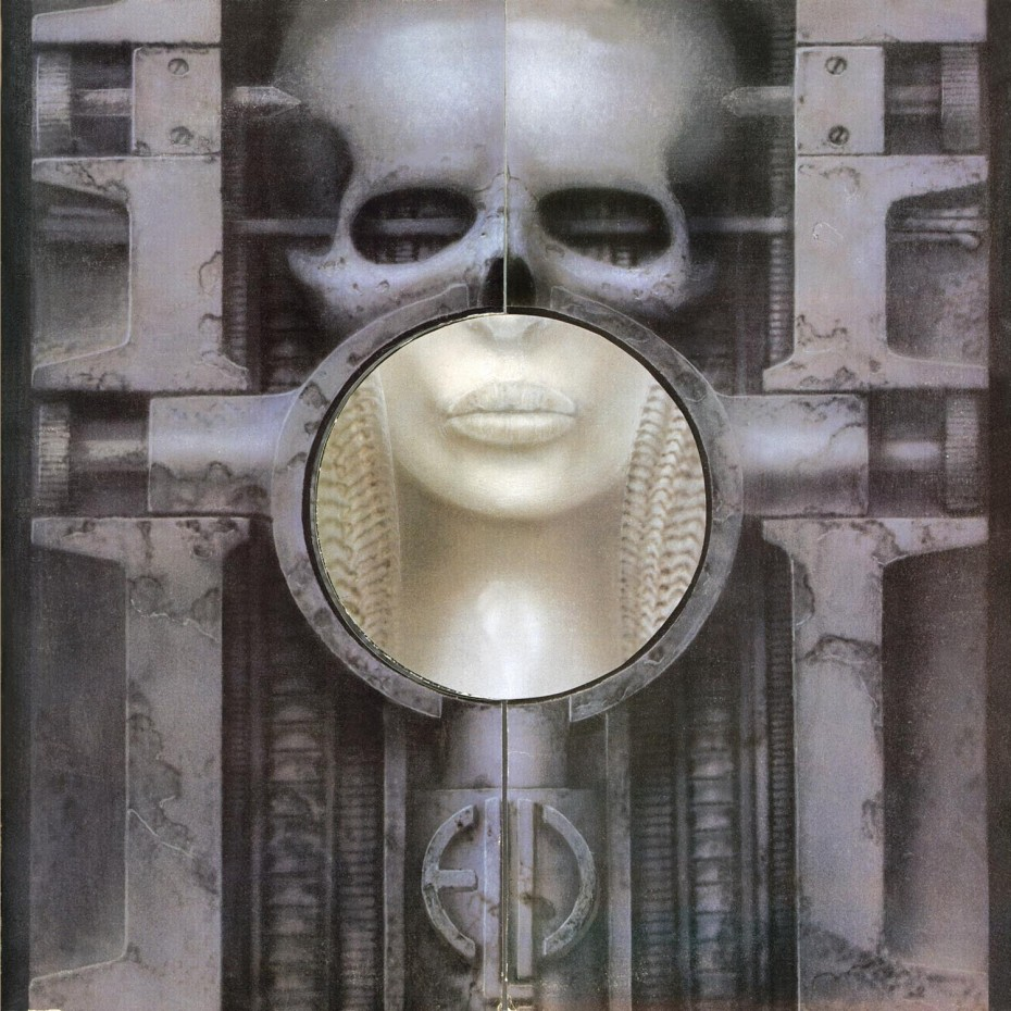 One of the most famous Giger images of all time: his cover for Emerson, Lake & Palmer's 'Brain Salad Surgery' (1973).