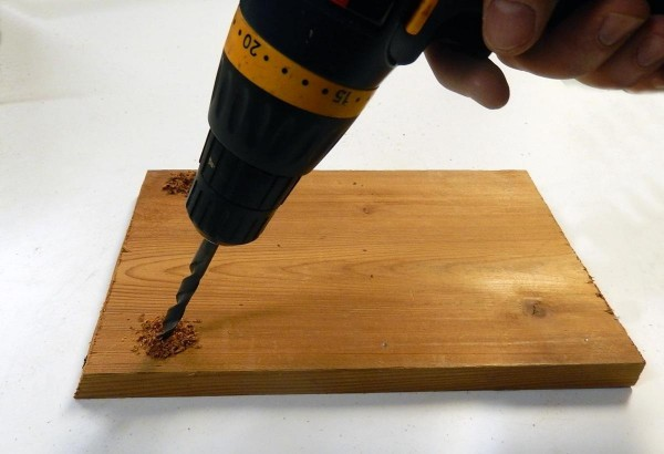 drill holes in top