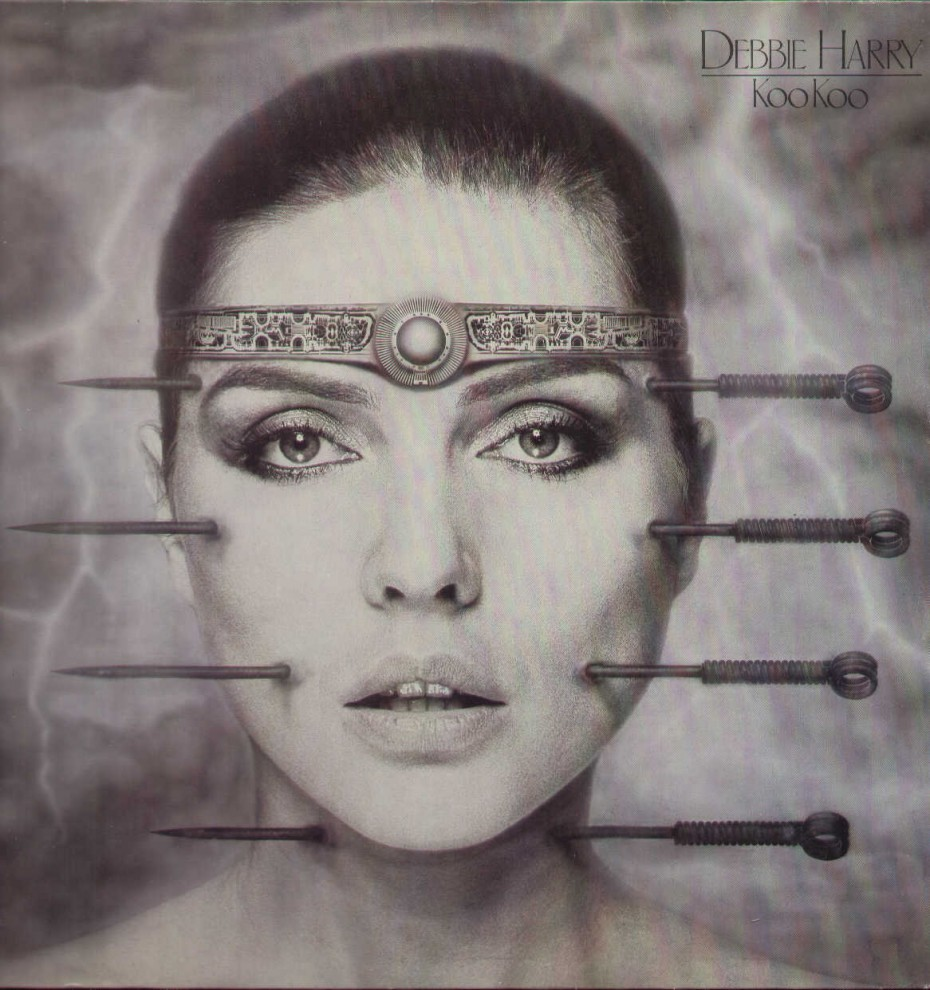 Debbie Harry's first solo album, 'KooKoo' (1981).  Based on a photograph by Brian Aris. The London Underground refused to display posters promoting the album.