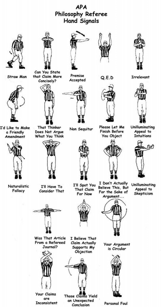 Philosopher referee hand-signals / Boing Boing