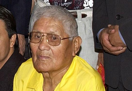 Navajo Code Talker Chester Nez is seen at the State Department in Washington, D.C. on June 5, 2002.
