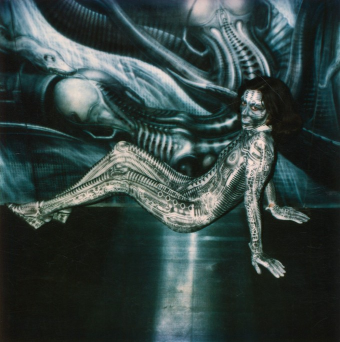 H.R. Giger, Bodysuit, 1981. Acrylic on fabric, in Debbie Harry's video Now I Know You Know, 1981