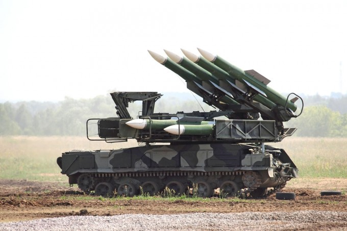 Russian military BUK-M2 missile system at a demonstration race on July 4, 2010 in Zhukovsky, Russia. (Shutterstock)