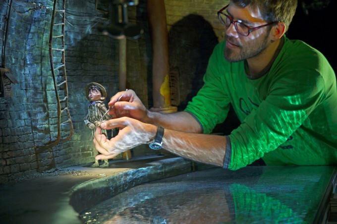 Matias Liebrecht works on Eggs during production of LAIKA and Focus Features' family  event movie THE BOXTROLLS, opening nationwide September 26th.  Credit: Jason Ptaszek / LAIKA, Inc.