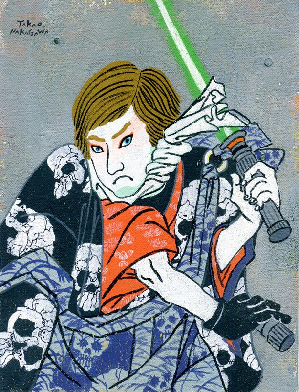 Takao Nakagawa Ukiyoe Character series 5, STAR WARS Luke Skywalker.