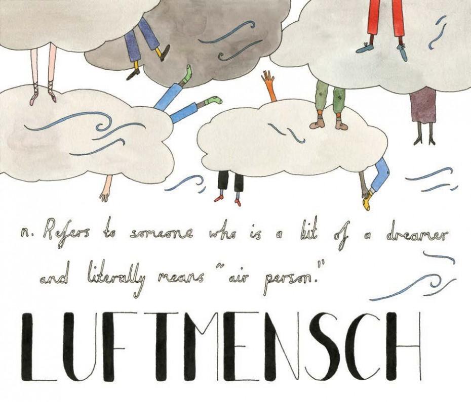 Luftmensch - Yiddish, noun