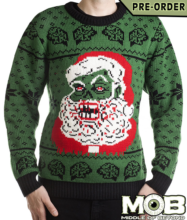 Satanic Christmas Sweater.More Ugly Christmas Sweaters Satan Krampus Zombie Santa