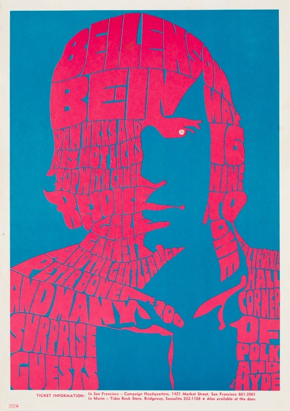 Beilenson Bein, May 16, 1967, California Hall, San Francisco. Artist: Unknown.
