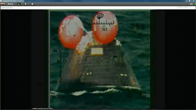 The Orion spacecraft has been powered down following a flawless first flight test. Photo: NASA