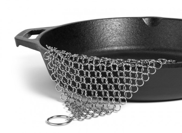 Hudson Cast Iron Cleaner XL 7x7 Premium Stainless Steel Chainmail Scrubber