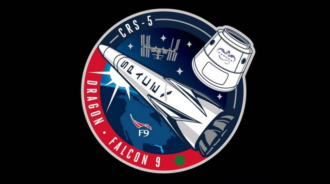 The mission patch for SpaceX's fifth operational resupply flight to the International Space Station. Credit: SpaceX