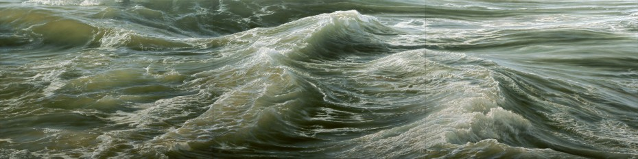 "Deep Water No.1, 2010, oil on canvas, 72"" x 288"""