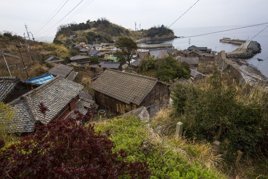 The main part of the fishing village on Aoshima Island, photographed on February 25, 2015. Thomas Peter/Reuters