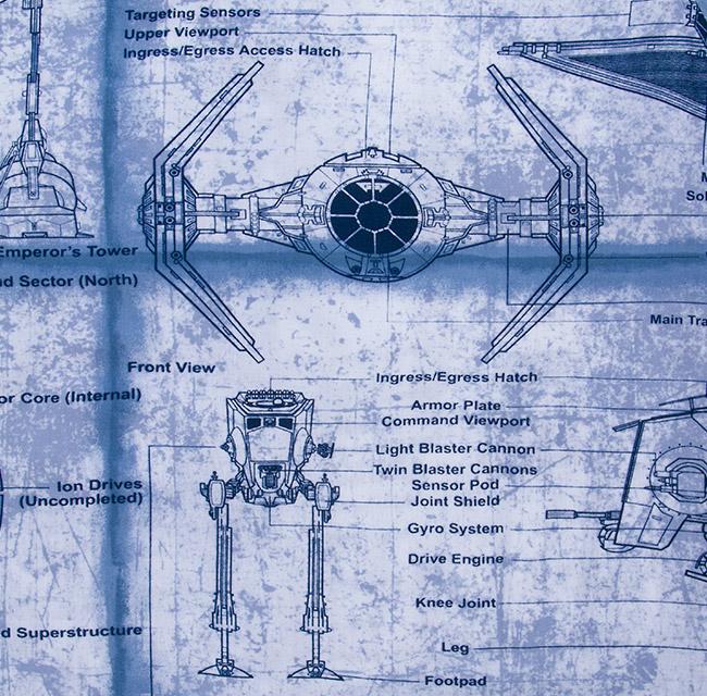 Star Wars Blueprints Aloha Shirt Boing Boing Rh Boingboing Net TIE Fighter  Blueprints TIE Fighter Blueprints