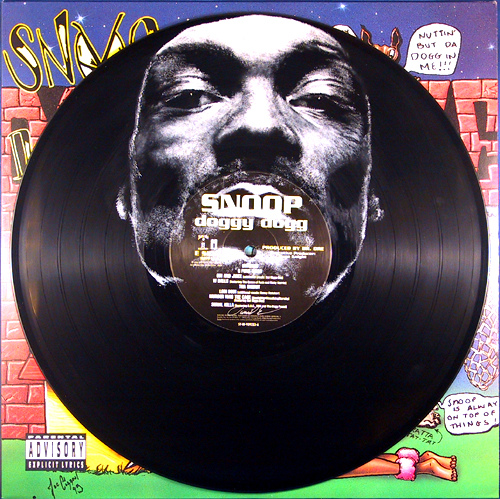 Snoop Dogg. Vinyl Art by Daniel Edlen.