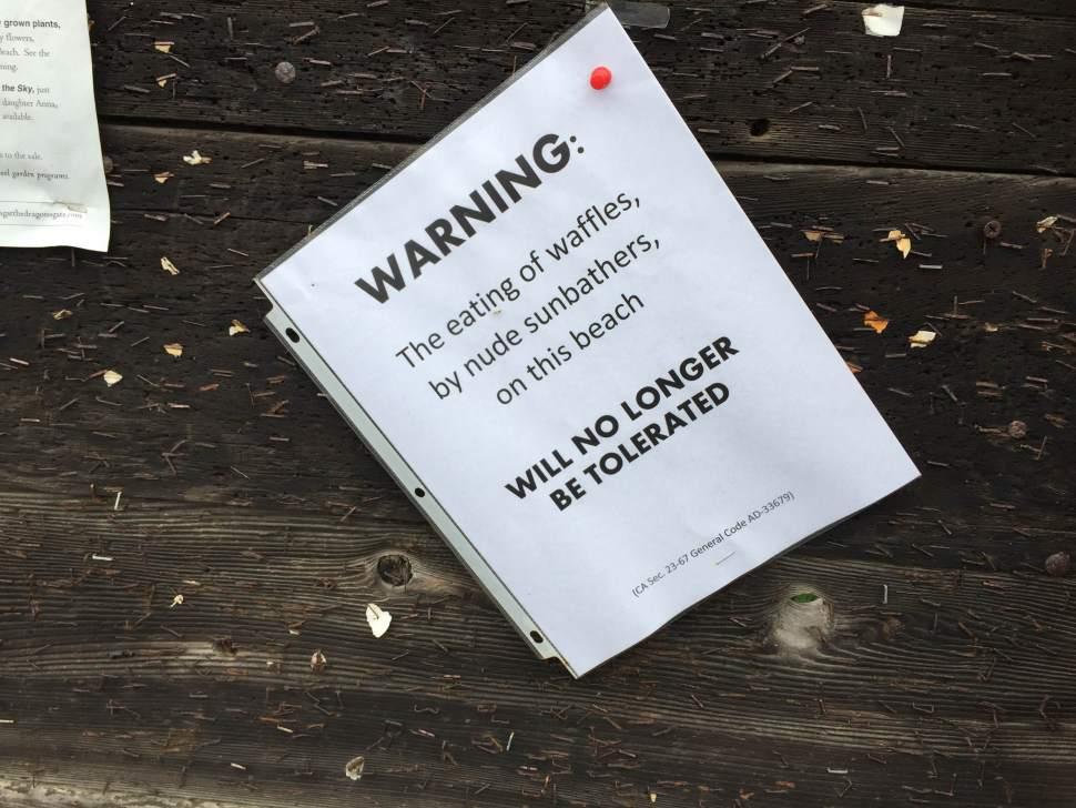 No Waffle Eating Nude Sunbathers / Boing Boing