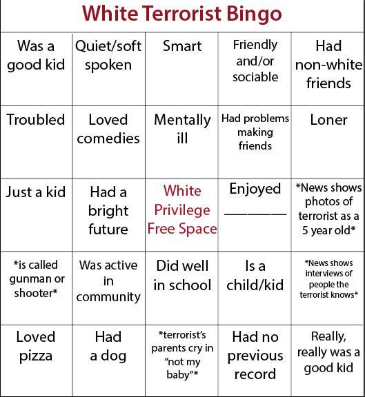 White Terrorist Bingo Boing Boing