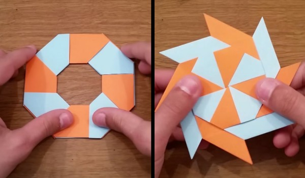 How To Make a Paper Transforming Ninja Star - paper origami easy ... | 350x600